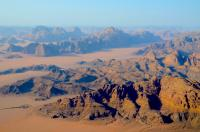 Jordan - Wadi Rum (from an hot air balloon)