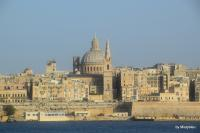 The walled city of Valletta