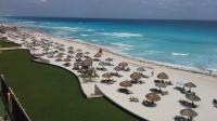 Walking along Cancun Island