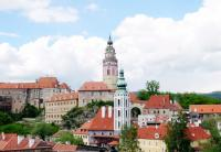 Breath-taking panorama of Cesky Krumlov.